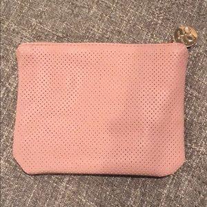 Arbonne Pink Zippered Pouch Makeup Bag Cute!